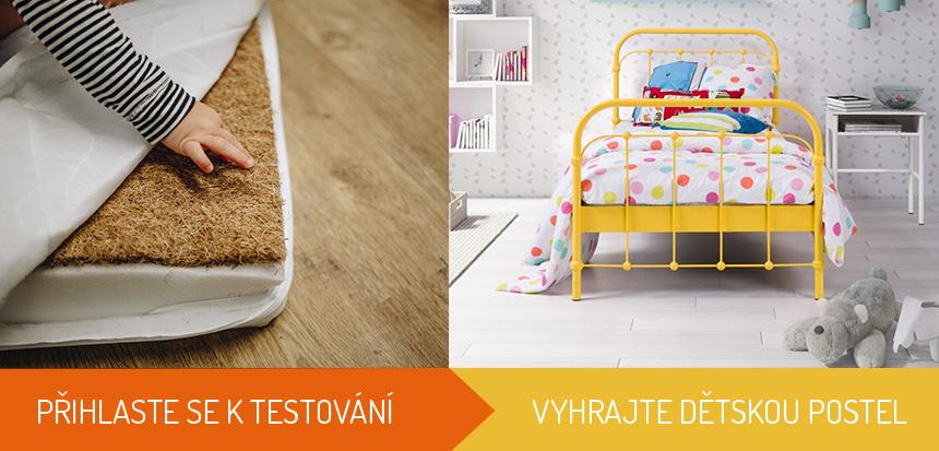 Testování dětské matrace a soutěž o postel