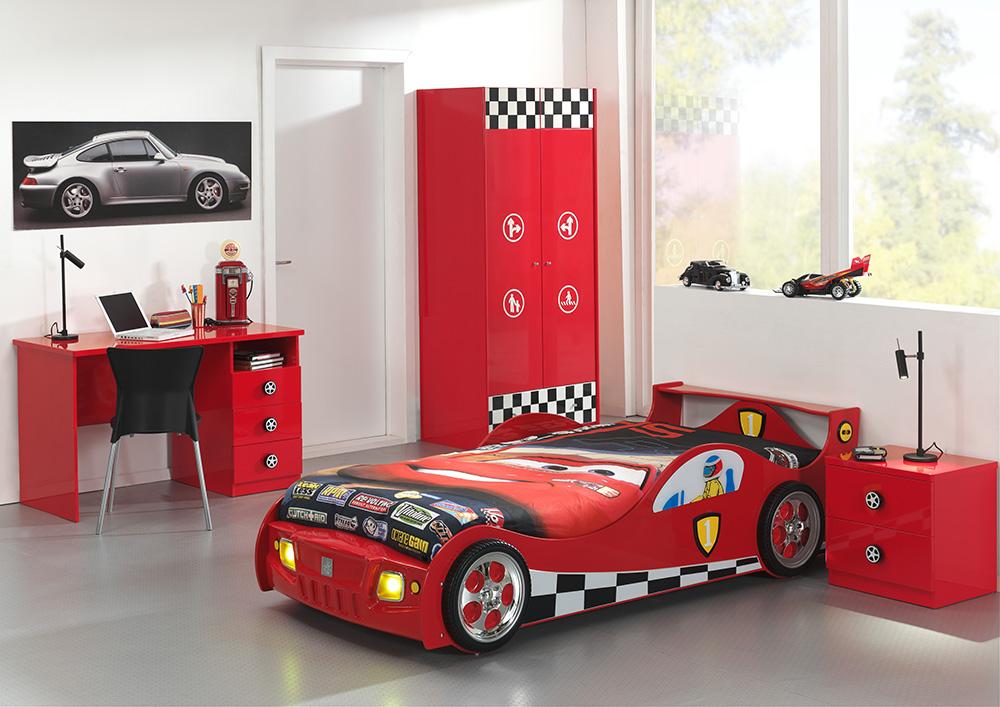 Dětský pokoj v červené barvě