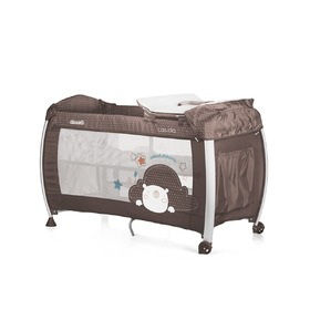 CHIPOLINO Cestovní postýlka Play pen and crib Casida - brown bear, CHIPOLINO LTD.