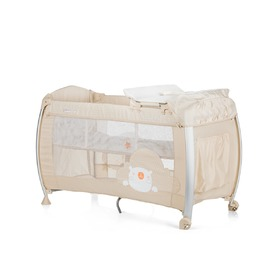 CHIPOLINO Cestovní postýlka Play pen and crib Casida - creme bear, CHIPOLINO LTD.