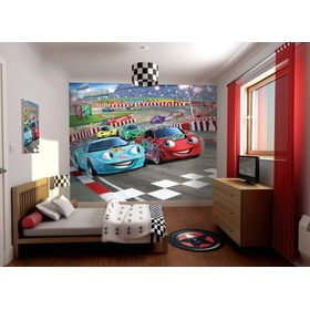 3D tapeta Auta, Walltastic, Cars