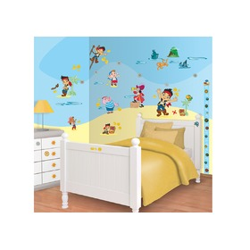 Samolepky Disney Jake a piráti, Walltastic, Jake and the Never Land Pirates