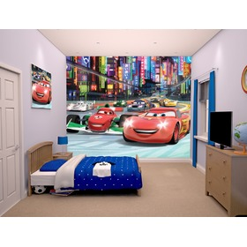 3D tapeta Disney Auta II, Walltastic, Cars