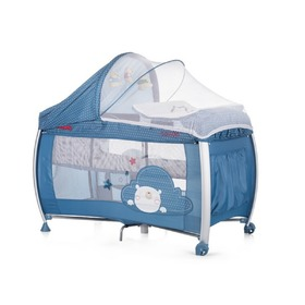 CHIPOLINO Cestovní postýlka Play pen and crib Casida - blue bear, CHIPOLINO LTD.